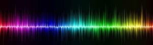 colorful audio sound waves website header