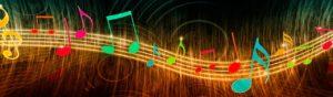 wonderful colorful music notes website header